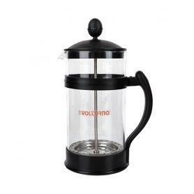 Cafetera Embolo Volturno Glasse 8 Pocillos 1 Litro
